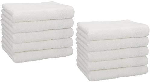 Betz Set di 10 Asciugamani per Ospiti 30x50 Premium 100% Cotone (Bianco)