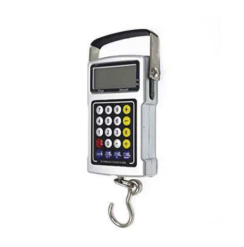 ZCXBHD kofferweegschaal, draagbare digitale weegschaal, tegen prijsberekening, multifunctionele weegschaal met rekenmachine en precisie, prijsvormgeving, 50 kg 1 g, batterijvoeding