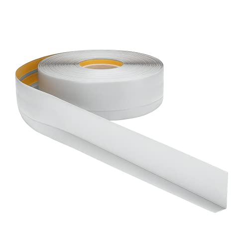 Weichsockelleiste PVC 50x20mm - 1 Meter, selbstklebend Eckleiste, flexible Bodenleiste, Premium Weich Sockelleiste (Grau)