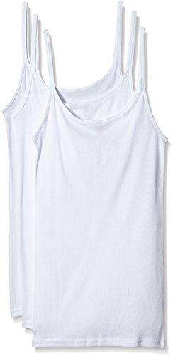 Triumph Damen Unterhemd Katia Basics Shirt01 3P, Weiß (White 03), Gr. 38