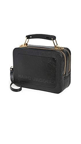 Marc Jacobs Da Donna la mini borsa in pelle texturizzata a scatola Nero Unica Taglia