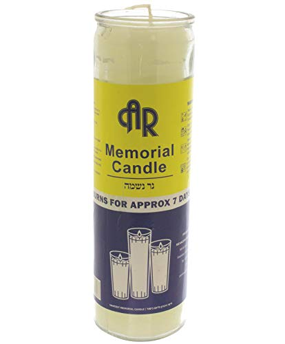 AR White 7 Day Memorial Candle in Glass Jar