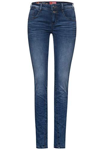 Street One Damen 373822 Style Jane Casual Fit Slim Legs Jeans, brillant Blue Sport wash, W30/L32