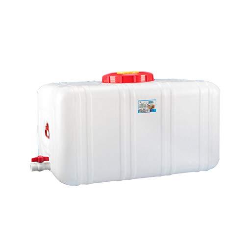 Wassertank 300L Großer Umweltschutz-Plastikeimer Horizontaler Quadratischer Wasserspeichertank Deckel Und Ventil (Size : 300L-35.4x18.9x20.9inch)