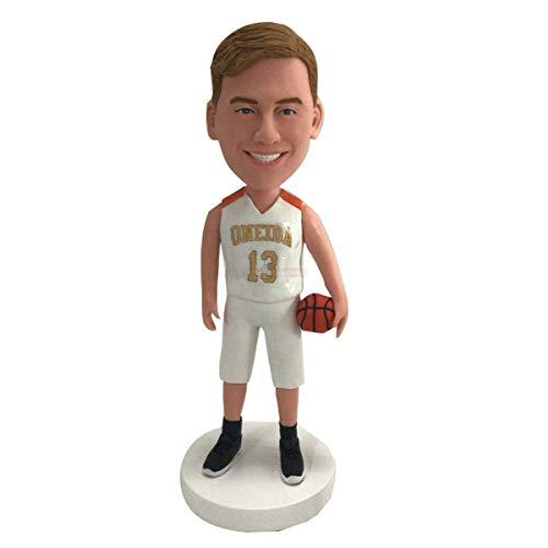 Baloncesto Regalo personalizado para el novio Baloncesto Bobble Head Baloncesto Figura de arcilla Baloncesto Cumpleaños Pastel de cumpleaños Topper Baloncesto Regalo