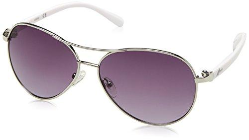 Guess Guf235, Gafas de Sol para Mujer, Plateado, 61