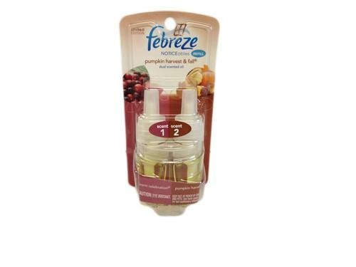 Febreze Plug In Dual Scented Refill Pumpkin Harvest & Fall 26ml (Pack of 4)