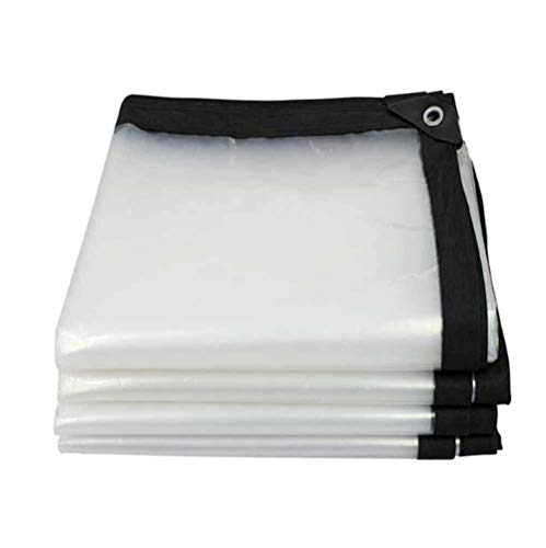 MMADD Tissu imperméable à l'eau de Pare-Brise, Tissu, bâche, bâche, Tissu imperméable à la Ferme bâche rembourrée Transparente, bâche de Camping, écran Solaire PVC Transparent,3m×3m