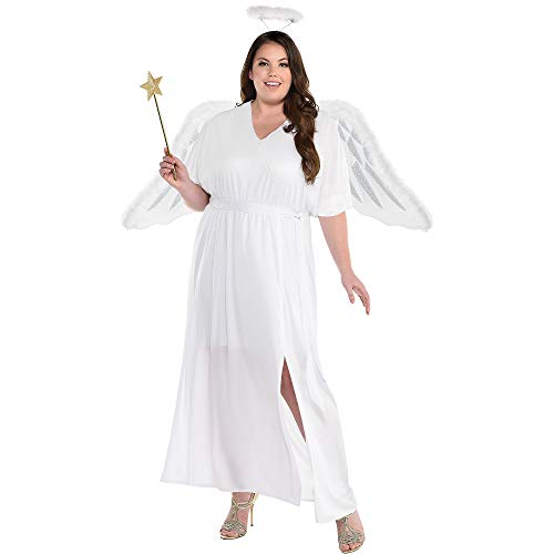 Party City Sent from Above Angel Halloween Costume for Women, Plus Size, Includes Dress and Halo