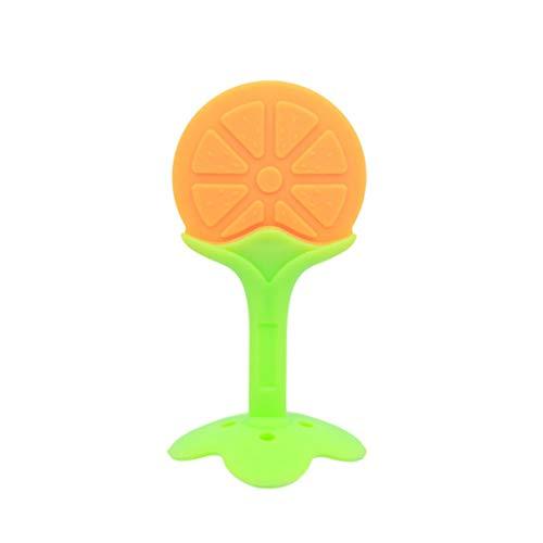 Kongqiabona-UK Jouet de Dentition pour bébé, Gomme à Dents de Fruits Naturelle sans Silicone sans BPA, avec Attache-Sucette/Attache-Sucette, Convient aux Nourrissons et aux Jeunes Enfants