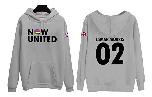 Moletom Now United Adulto Lamar Morris 02 Cinza Reino Unido Blusa Tamanho: G; Cor: Cinza