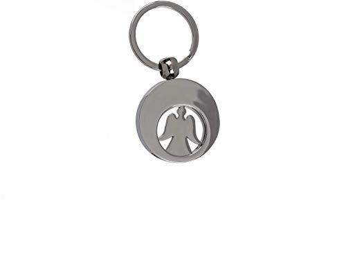 Bavaria Home Style Collection- Schlüsselanhänger Metall-Schlüsselanhänger Engel, mit Einkaufswagenchip Schutzengel
