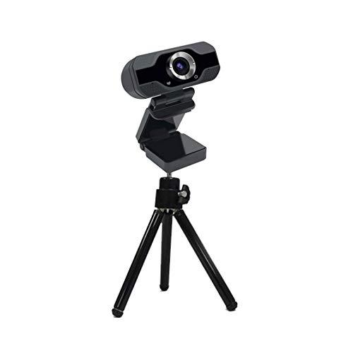 HD 1080P Webcam Micrófono Incorporado Micrófono Smart Web Cámara USB para Computadoras Portátiles De Escritorio PC Game CAM Mac OS Windows Android JNSXT (Color : with Tripod)