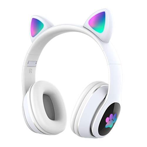 Auriculares Bluetooth,Inalambricos y Plegable,Tecnología de Reducción de Ruido Activa,Micrófono Incorporado y Emparejamiento NFC,30 Horas de Reproducción,Regalos Originales para Mujer y (Blanco)