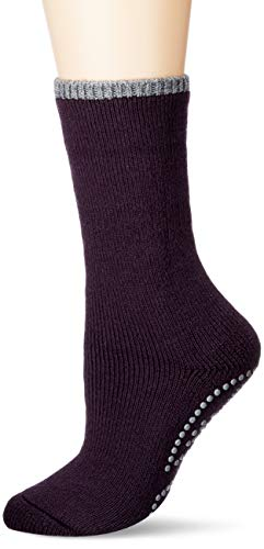 FALKE Damen Vollplüschsocken Cuddle Pads - Baumwollmischung, Warmer Vollplüschsocken für Damen aus Merinowolle und Baumwolle; ideal für Zuhause, Lila (Violetonyx 8136), 35-38, 1er Pack