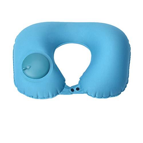 Colorful Aufblasbares Kissen Campingkissen Reisekissen Luftkissen Nackenkissen Kopfkissen Schwimmkissen Strandkissen Camping Pillow für Camping, Reise, Outdoor 40 x 29.5cm (Blau)