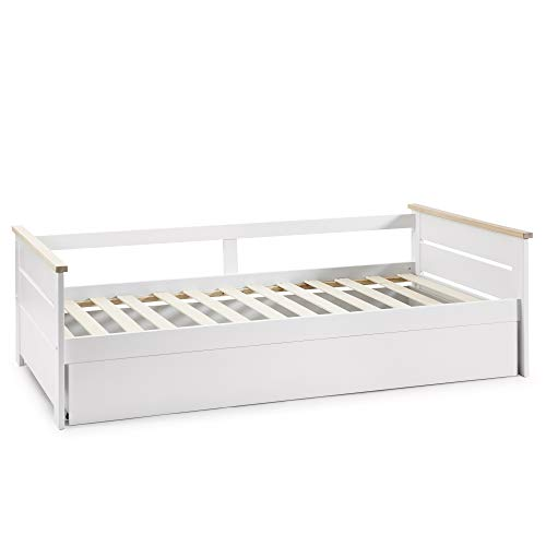 VS Venta-stock Cama Nido Juvenil Sena 90X190, Color Blanco, Dimensiones: 199cm (Largo), 105cm...