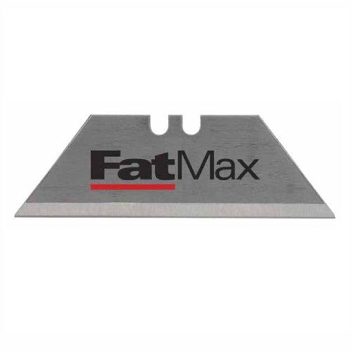 Stanley FatMax Trapezklingen (0,65 mm Klingenstärke, 100 Stück im Spender, S3-Technologie, bruchfest bis zu 35kg) 0-11-700