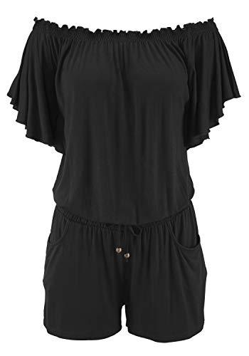 Lascana Overall Bedruckt oder Uni schwarz 40