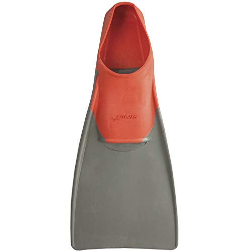 FINIS Long Floating Fins , Red/Grey, L (US Male 7-9 / US Female 8-10)