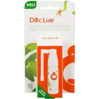 DocLue® gegen den Frosch im Hals | patentierte Wirkstoffformel mit Tiefenwirkung | Atemfrische | Heiserkeit | Stimmermüdung | räusperfrei | Mundspray | Rachenspray | Made in Germany | 300 Anwendungen