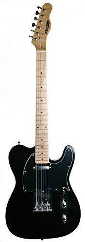 KEYTONE E-Gitarre TL-Style Deluxe Schwarz Black Maple