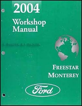 2004 Ford Freestar Mercury Monterey Van Shop Manual Original Repair Service Book