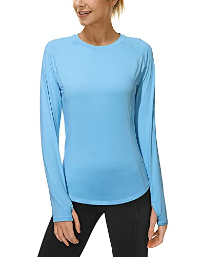Roadbox Womens UPF 50+ Long Sleeve UV Sun Protection Thumbhole Running Shirts
