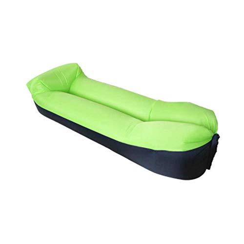 QLWY Plegable Tumbona Hinchable, Sofa Hinchable con Almohada Integrada y Bolsa, Resistente al Desgarro, Resistente al Agua y a La Suciedad, para Viajes Piscina Camping Parque (Green)