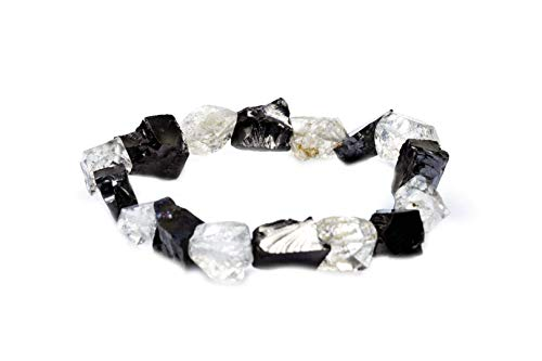 Shungite Elite Herkimer Diamante 7.5 Inch Cristal Pulsera ~Protección~ (553346)
