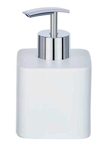 WENKO DIE BESSERE IDEE Distributeur Savon Liquide, céramique, Hexa Blanc