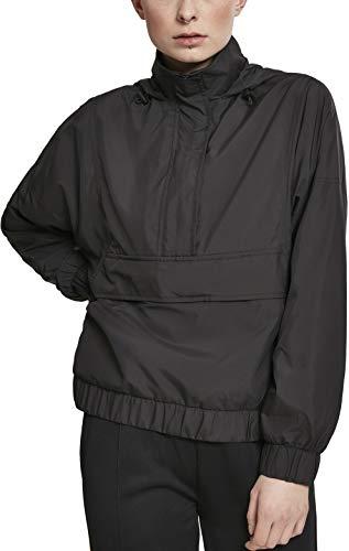 Urban Classics Damen Jacke Ladies Panel Pull Over Jacket, Schwarz (Black 00007), Medium (Herstellergröße: M)