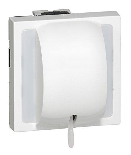Legrand 077014 Interrupteur ou va-et-vient à Tirage Mosaic, 2 Modules, 10AX, 250V, Blanc