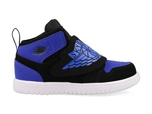 Nike Baby Jungen Sky Jordan 1 (TD) Sneaker, Mehrfarbig (Black/Hyper Royal-White 004), 25 EU