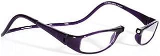 clic euro black reading glasses