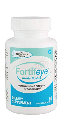 Fortifeye Vitamins AREDS 2 Complete Eye Care Supplement - Multivitamin with Resveratrol, Astaxanthin, Lutein, and Zeaxanthin - 30 Day Supply, 60 Softgel Capsules