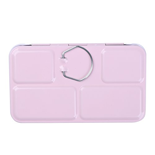 MEEDEN Empty Watercolor Tins Box Palette Paint Case, Small Pink Tin with 12 Pcs Half Pans