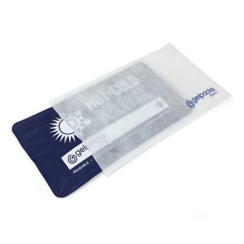 GelpacksDirect Paquete de gel frío caliente reutilizable con manga no tejida - Bolsas de hielo de primera calidad para lesiones deportivas - Tobillo, codo, hombro, espalda, rodilla - 1