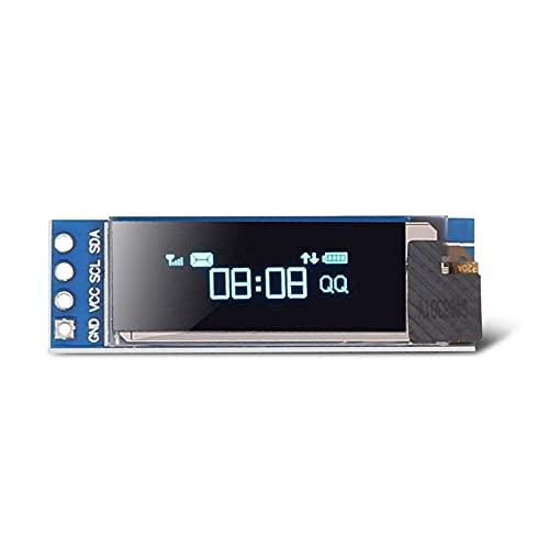 IGOSAIT Módulo de pantalla OLED IIC de 0.91 pulgadas / 0.96 pulgadas / 12864 OLED I2C SSD1306 para Arduino (color: azul 0.91)