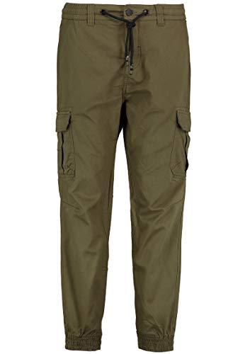 Eight2Nine Herren Jogger Cargo-Hose mit aufgesetzten Taschen Dark-Green 34