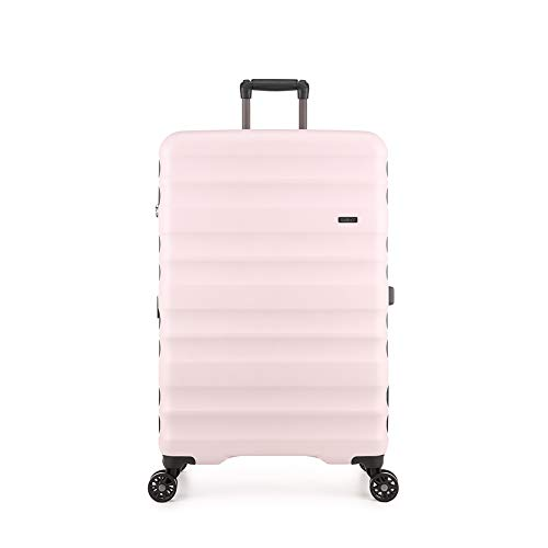 Antler Clifton, Durable & Expandable Lightweight Hard Shell Suitcase - Colour: Pink, Size: Large