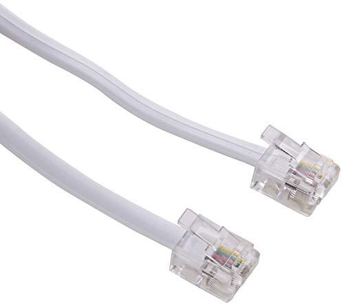 Dexlan - Cable adaptador telefónico de RJ11 a RJ45 (7 m), color blanco