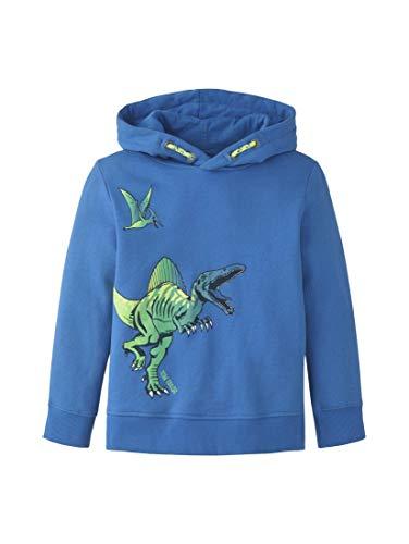 TOM TAILOR Kids Jungen Placed Print Sweatshirt, Blau (Strong Blue 3083), (Herstellergröße: 104/110)