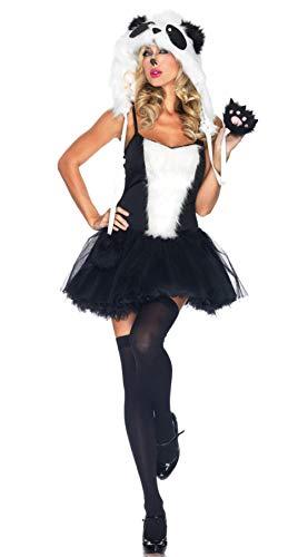 Dessous-Sets für Damen Sexy Cosplay Halloween kostüm für Frauen Schlinge schwarz weißes Fell Kleid sexy Catwoman Carnaval erotische Dessous @Black_m