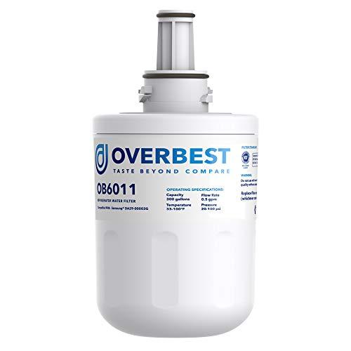 Overbest OB6011 DA29-00003G Filtro de agua, reemplazo para Samsung DA29-00003G, DA29-00003B, DA29-00003A, Aqua-Pure Plus, HAFCU1