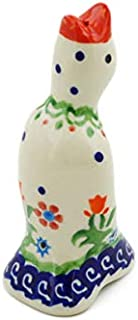 Polish Pottery Pie Bird 3-inch Spring Flowers