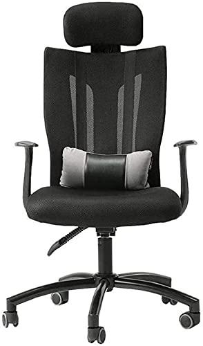 MHIBAX Silla para juegos Silla giratoria de oficina, respaldo alto para computadora, escritorio para juegos, silla de malla reclinable con almohada lumbar ajustable y sillón con r
