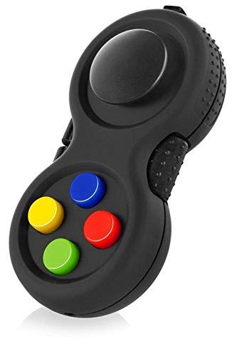 Classic Controller Game Pad Fidget Fokus Spielzeug mit 8-Fidget Funktionen und Lanyard - Perfekt für streßvermindernde