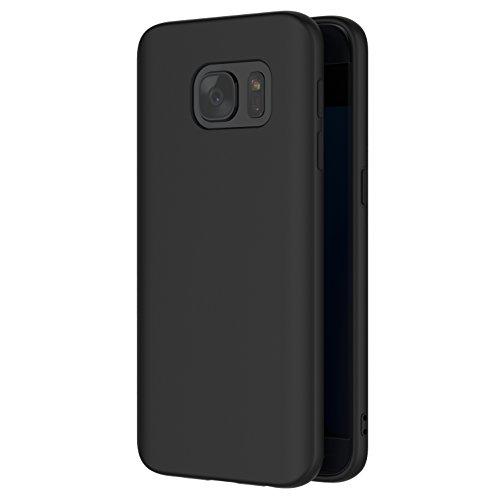 AICEK Cover per Samsung Galaxy S7, Cover Galaxy S7 Nero Silicone Case Molle di TPU Sottile Custodia per Samsung S7