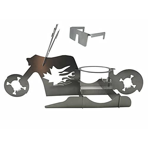 Hähnchen Ständer Tragbarer Hühnerständer Bier American Motorcycle BBQ Edelstahlregal mit Brille Indoor Outdoor Verwendung Hühnerröster, Hühnerhalter, Geflügelröster Stand